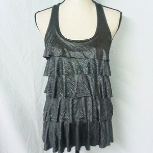 XXi Forever 21 Tank Racerback Shimmery Layered Top